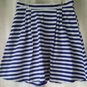 ModCloth women's XL blue/white striped skirt